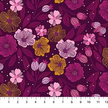 Sangria -- 90204-85 Purple Multi Flowers