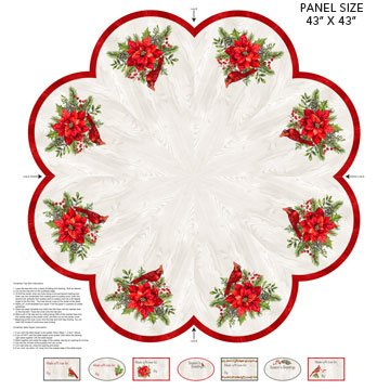 The Scarlet Feather -- DP23483-91 Tree Skirt/Pale Gray Multi