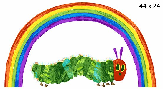 The Very Hungry Caterpillar Rainbow Panel -- A-9597-L