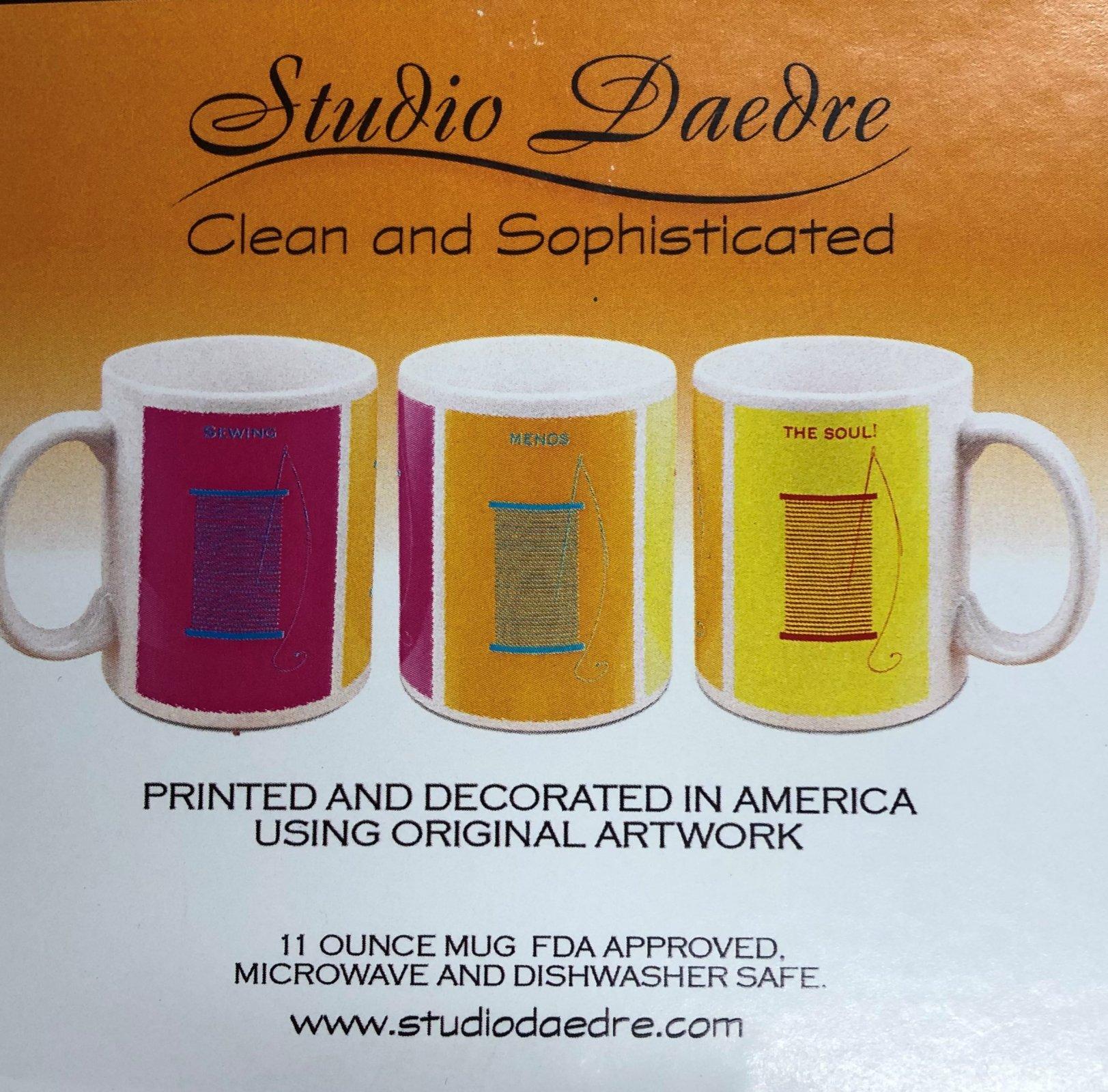 Mug -- Pop Art Thread Spool -- TACMUG