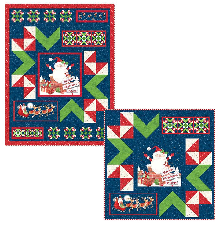Santa Stop Here -- PTN2634 Nooks and Crannies Quilt & Wall Hanging Pattern