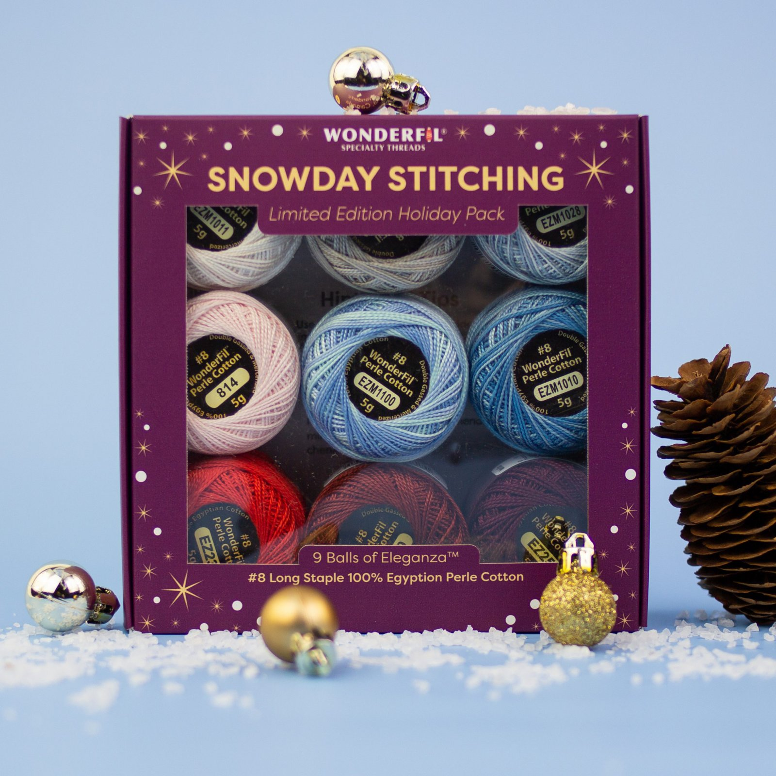 Wonderfil Snowday Stitching -- Ice Crystals/HPSS-IceCrystals
