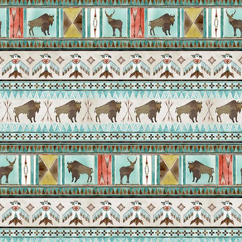 Buffalo Run- Stripe- 1378-41- Ecru