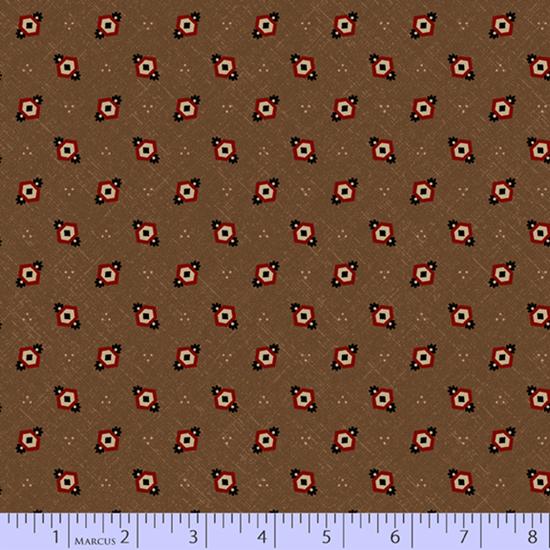 CHEDDAR & CHOCOLATE BROWN HEXIE DIAMONDS