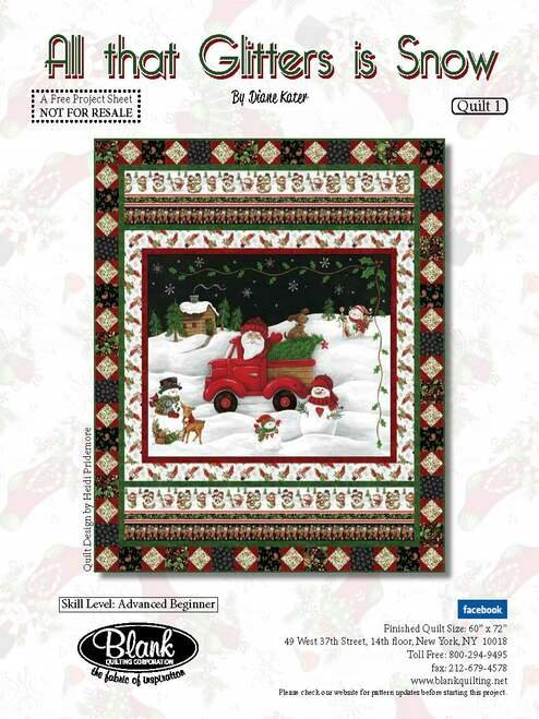 All that Glitters is Snow Quilt Kit 1
