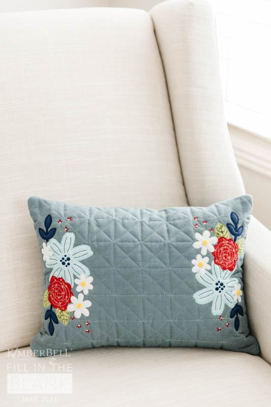 Home of the Blooms Kimberbell Blanks Quilted Pillow