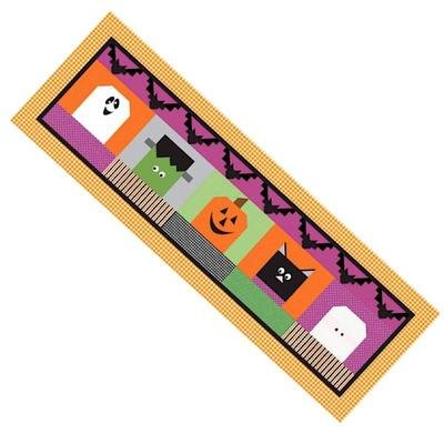 TABLE RUNNER OF THE MONTH HALLOWEEN BLOCKHEADS
