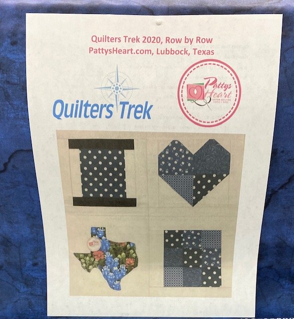 PATTYS HEART QUILTERS TREK ROW BY ROW 2020