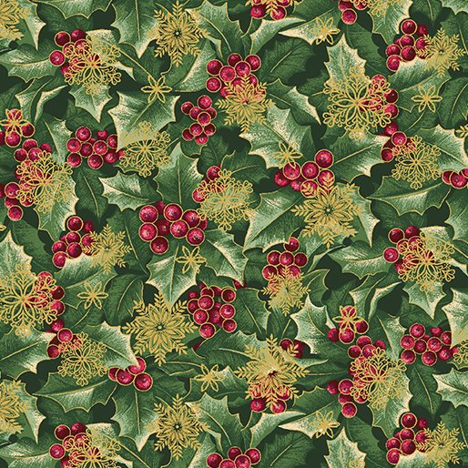 Holly w/ Flakes Forest/Gold