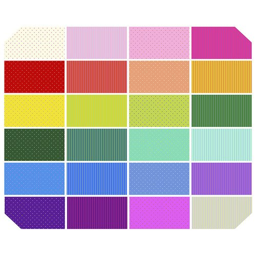 Tula Pink *New Tiny True Colors - 1 Yd Bundle - Complete Collection