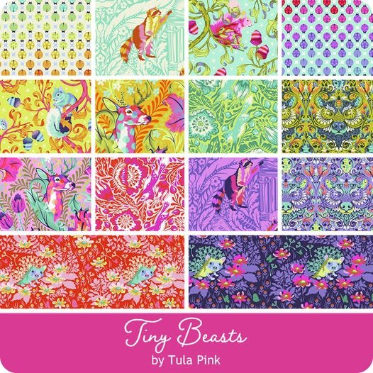 Tula Pink Tiny Beasts - 1/2 yard Bundle - Complete Collection - 14 Pcs