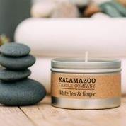 White Tea & Ginger Tin - Kalamazoo Candle