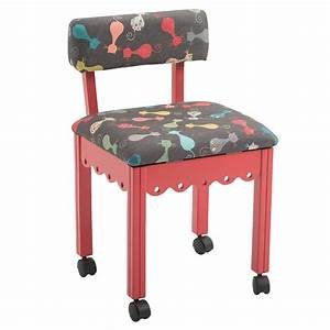 Cat's Meow Sewing Chair jewel-red