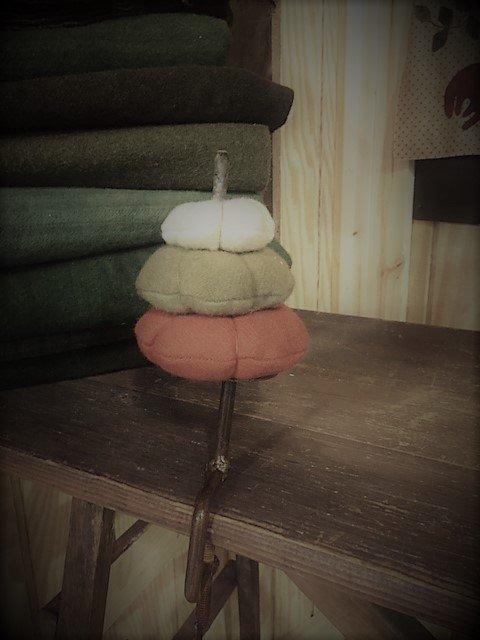 Stacked Pumpkins Make-Do Pin Cushion Pattern