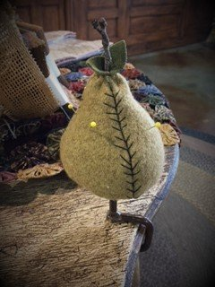 Pear Make-Do Pin Cushion Pattern
