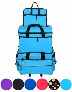 Wheeled Sewing Machine Carrier / Project Bag / Notions Bag Combo AQUA