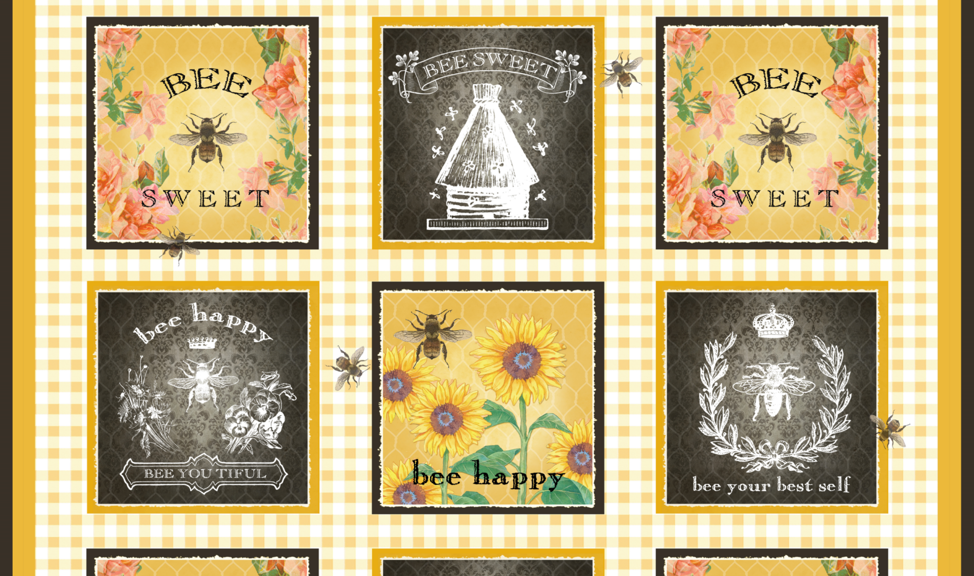 Bee Sweet Block Panel