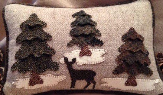 Wintertime Pillow---KIT