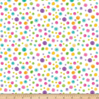 Blank Quilting By Golly Get Jolly! Tonal Dots White