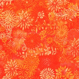 Santee Printworks Floral Forest Orange
