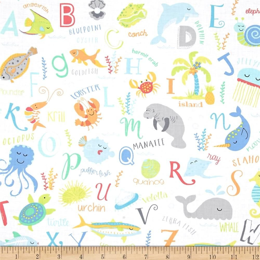ABC's Under the Sea Animal Alphabet - White