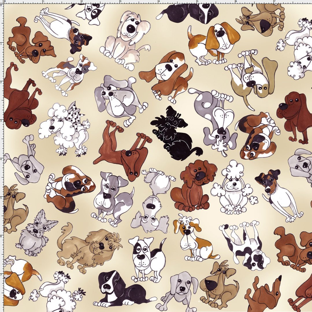 Loralie Designs Dear Doggie Delight Tossed Doggies Bone