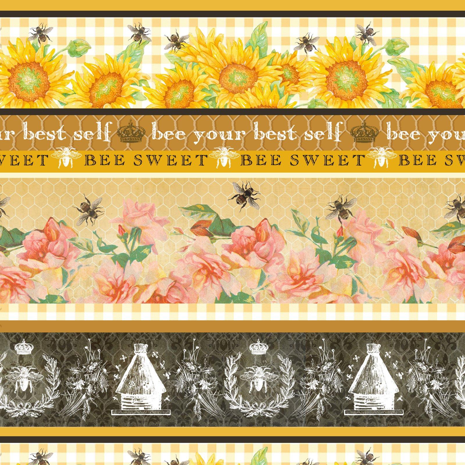 Studio E Bee Sweet Stripe - Honey Novelty Stripe