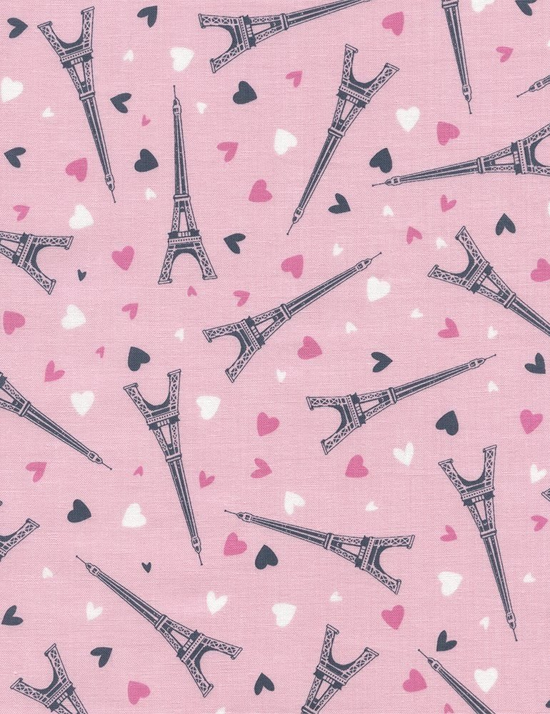 Eiffel  Tower &  Hearts - Pink