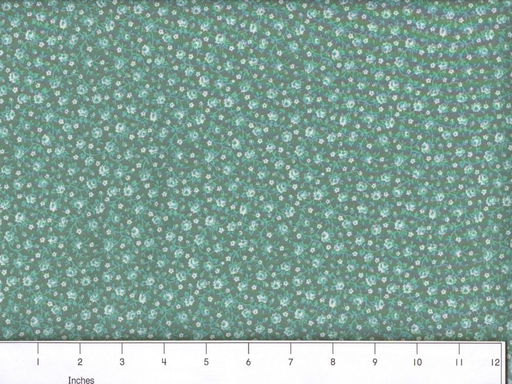 Country Floral - Sea Foam Green