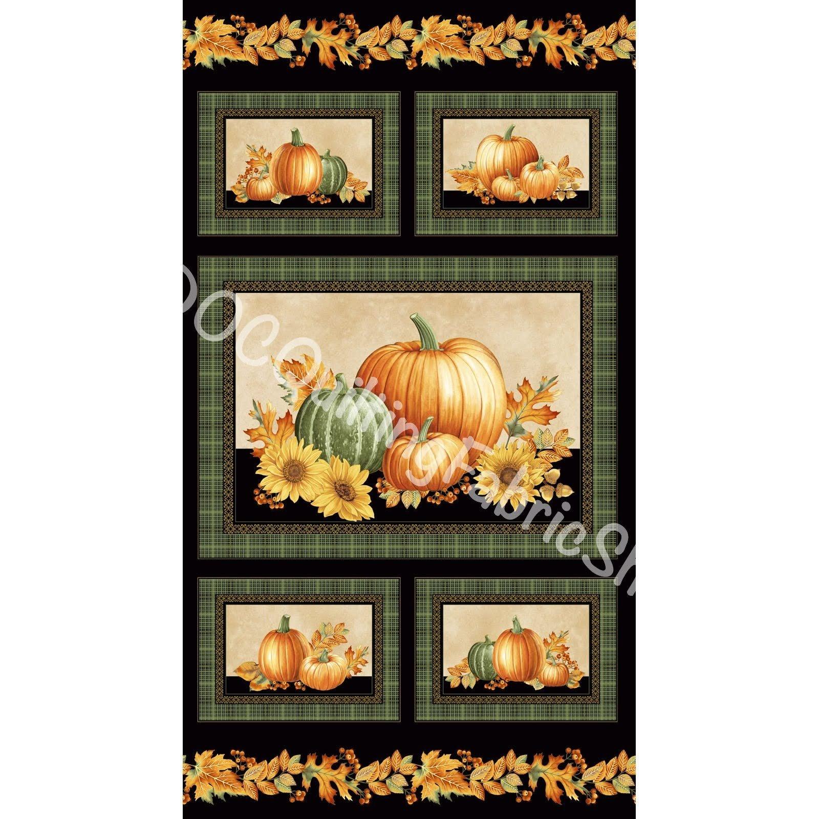 Benartex Autumn Elegance Panel Metallic 24 inches
