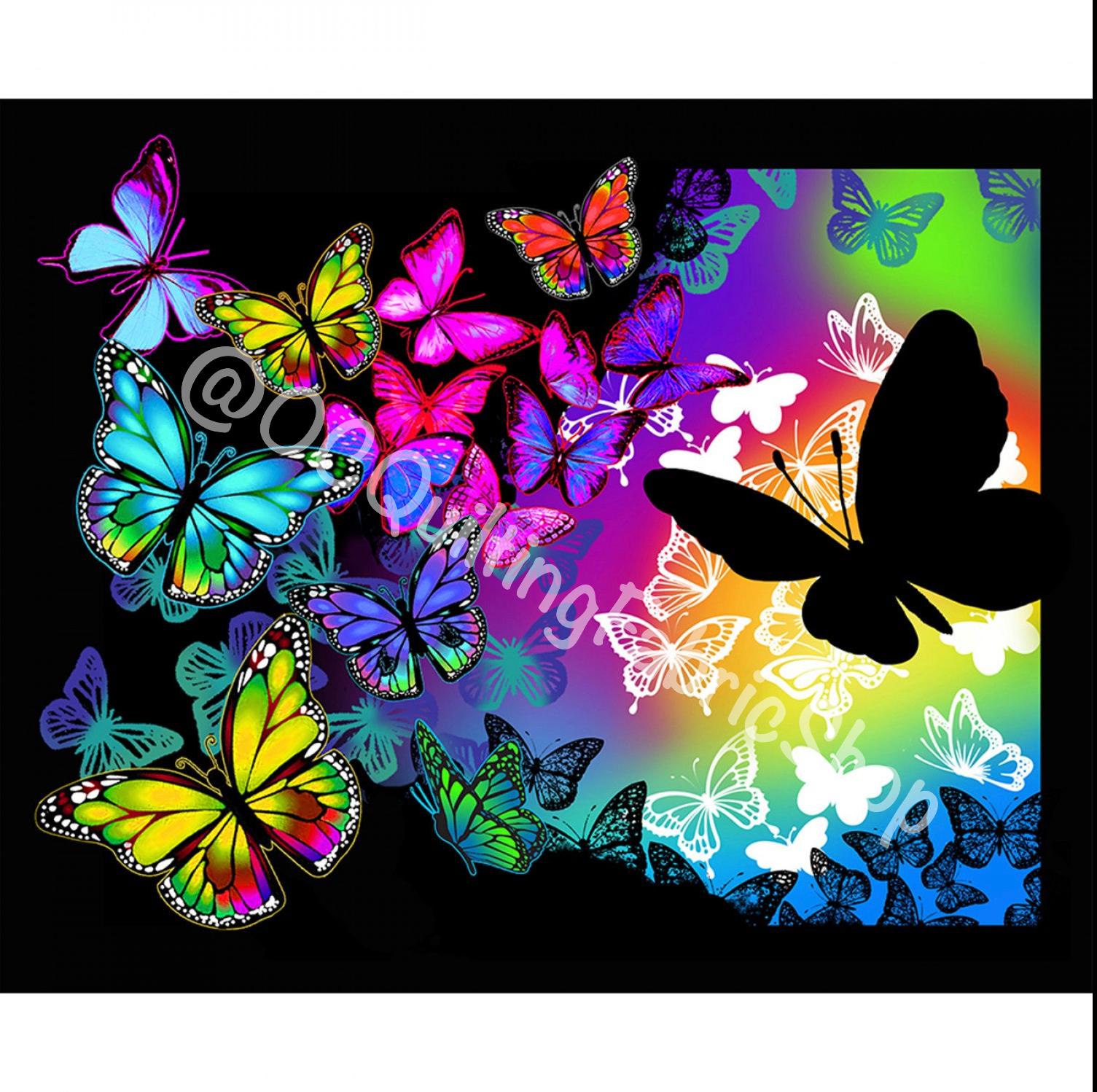 Sykel Butterflies in Flight Panel 36in