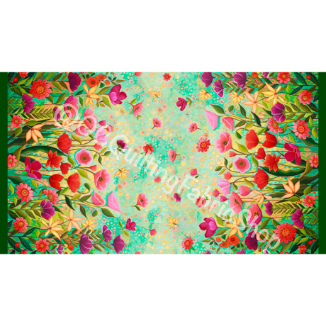 Quilting Treasures Wild Beauty Double Border Floral