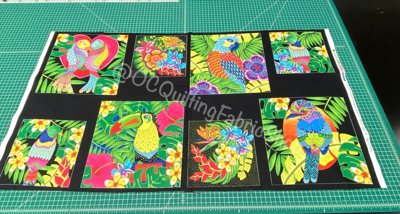 Wilmington Prints Tropical Flair Hello Angel Birds in Paradise Panel 24 inches
