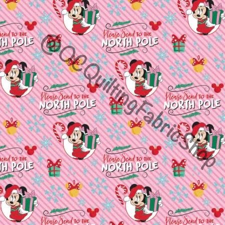 Camelot Disney Character Winter Holiday Minnie Mouse North Pole Pink