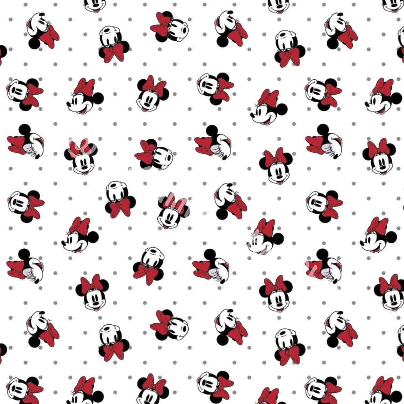 Camelot Disney Minnie Mouse Dreaming In Dots White