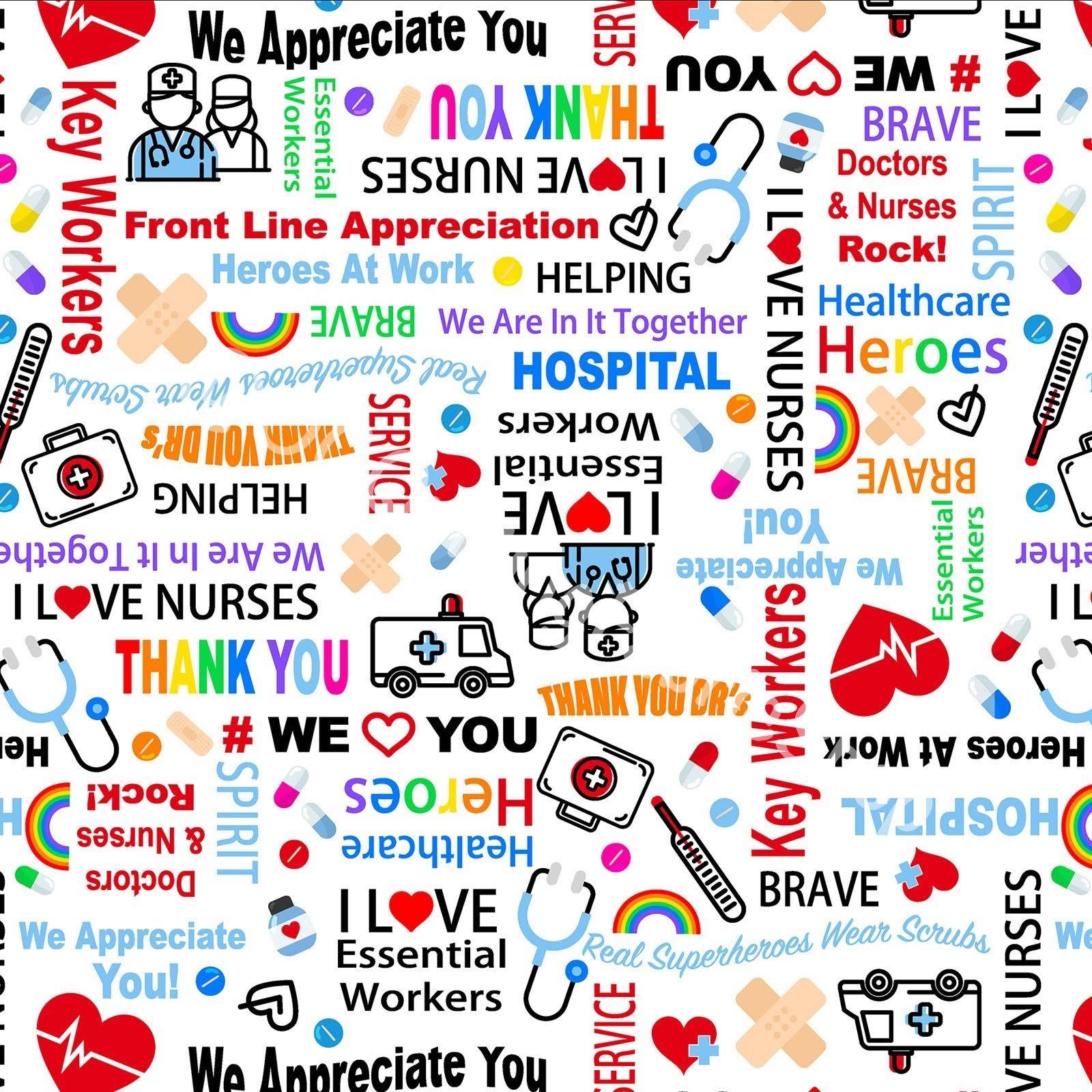 Kanvas We Appreciate You Healthcare Heroes White