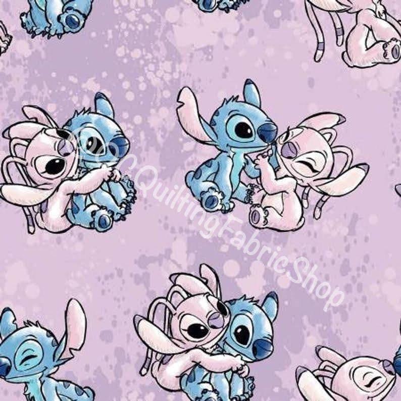 Spring Creative Disney Lilo & Stitch Angel Watercolor
