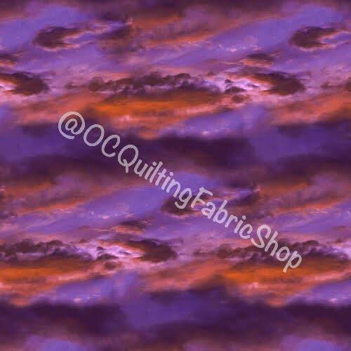 Blank Quilting Digital Natural Beauties Sky Purple