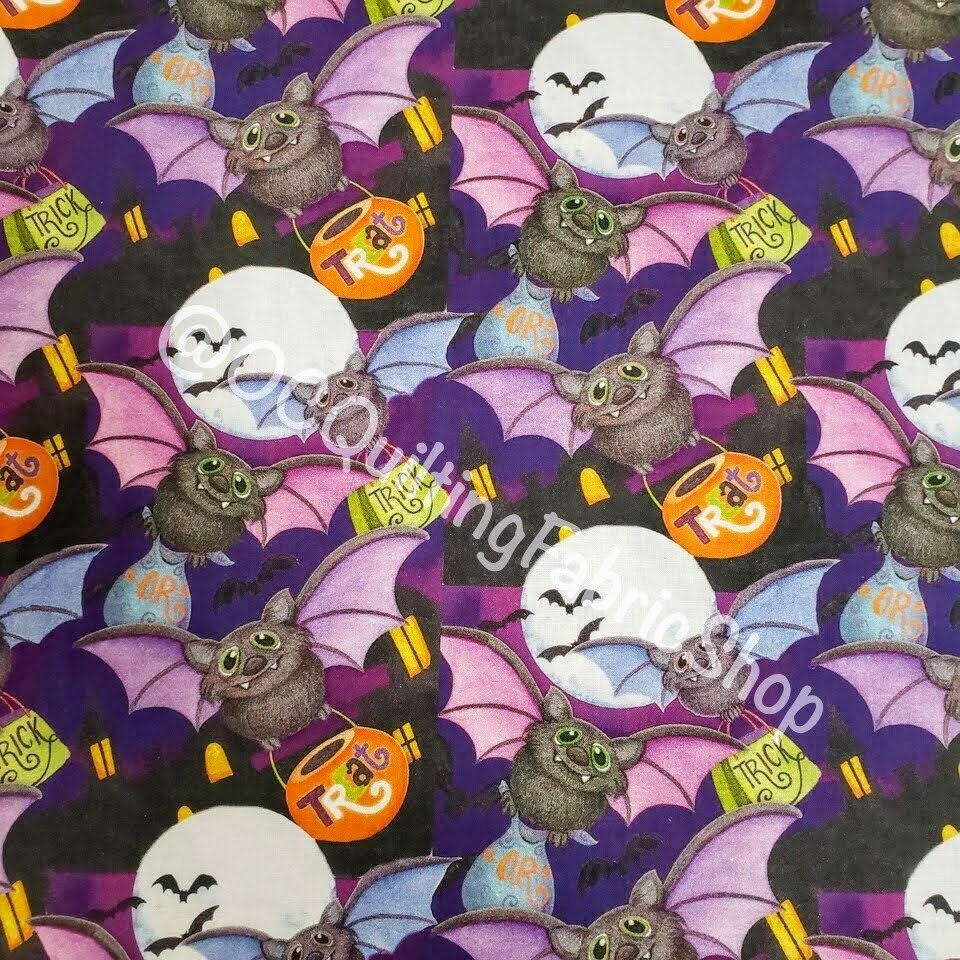Spring Creative Halloween Happy Haunting Bats Toss