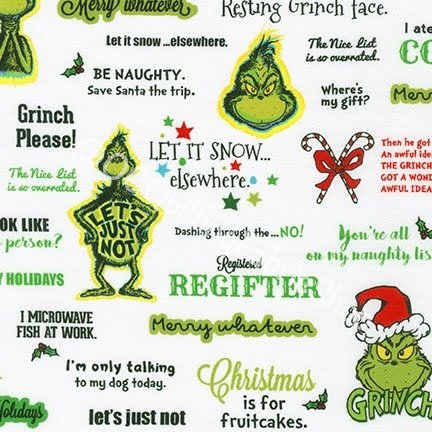Kaufman How the Grinch Stole Hanging Christmas Words by Dr Seuss