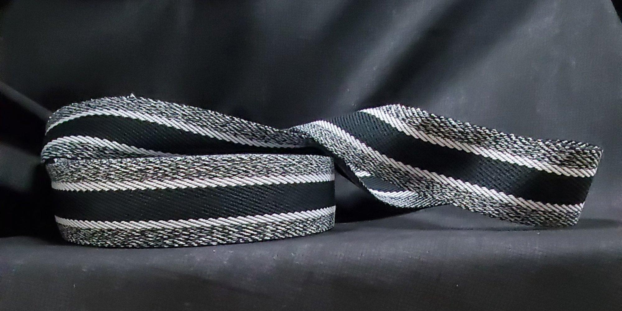 Striped Sangle Cotton Ribbon 40mm