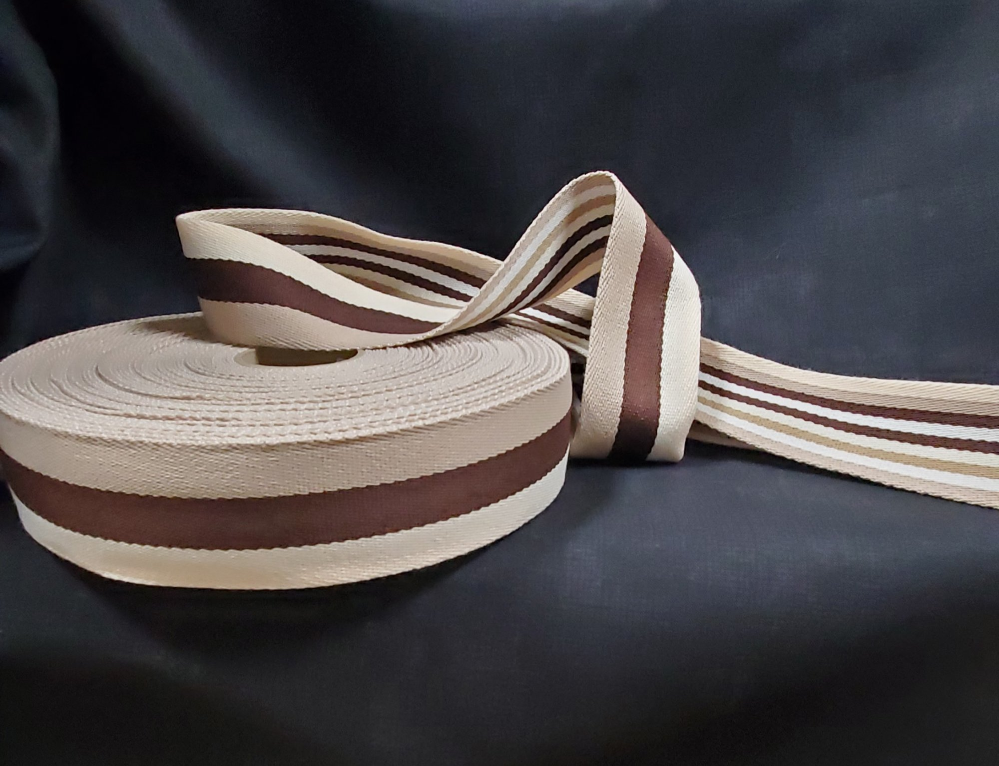 Double Sided Striped Strap Webbing 040