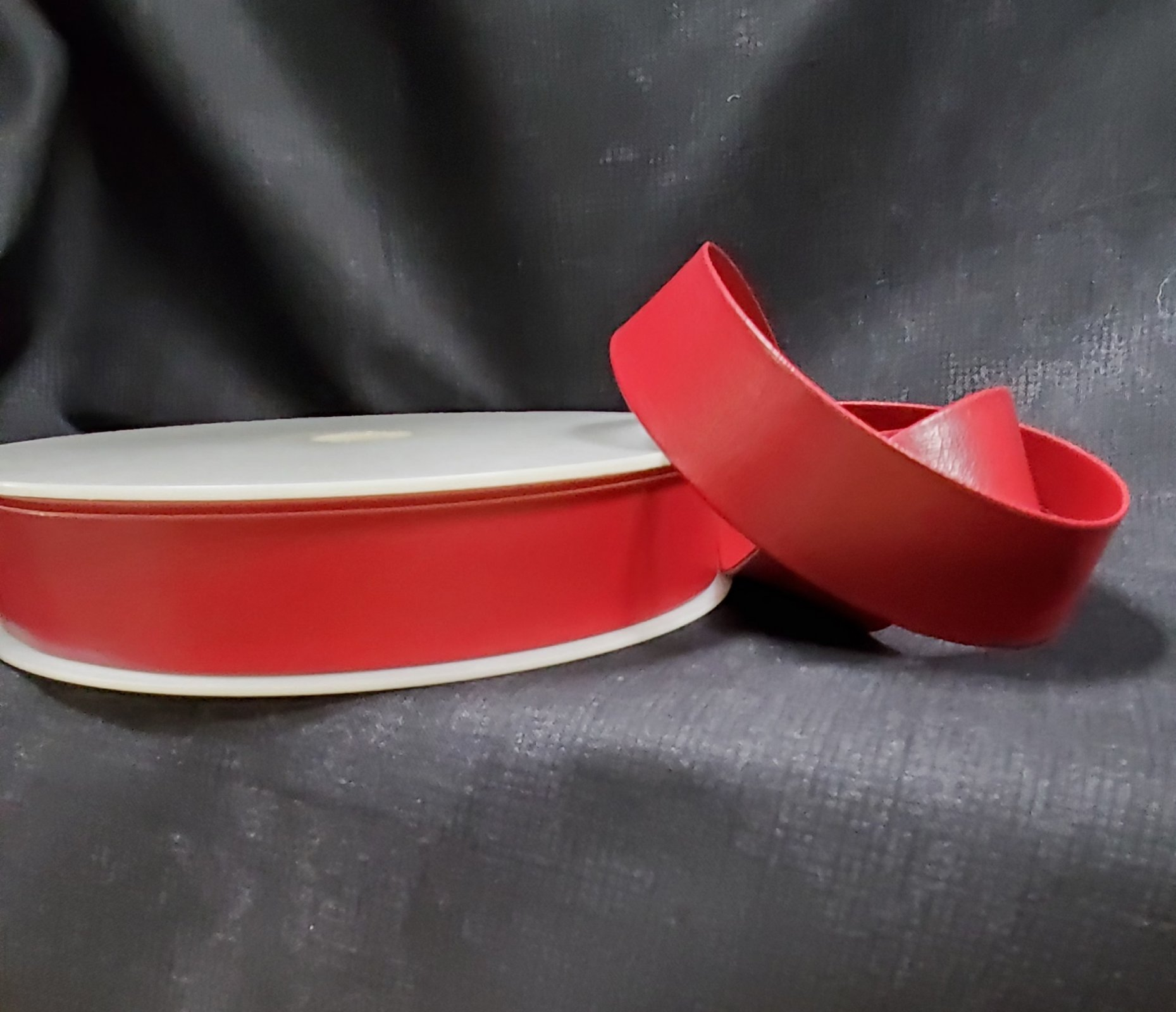 Faux Leather Bias Tape 25mm Maroon 072