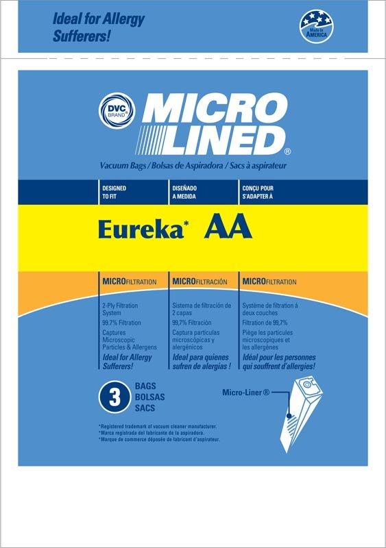 DVC Eureka AA Microlined Bags 3Pk