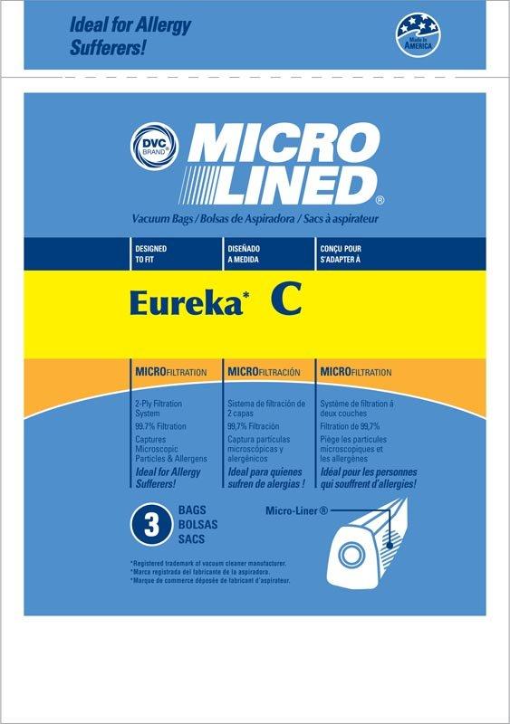 DVC Eureka C Microlined Bags 3 pk