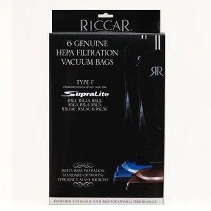 Riccar 6 Hepa Filtration Bags - Type F