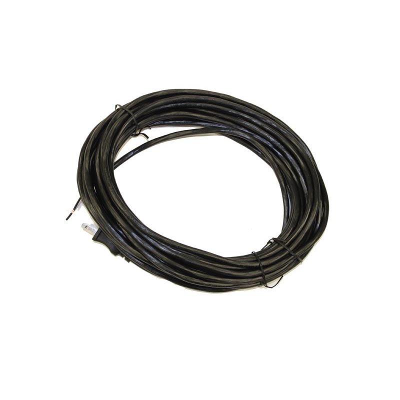 Fitall 40' Black 17/2 SVT 12A Power W/Polar Plug