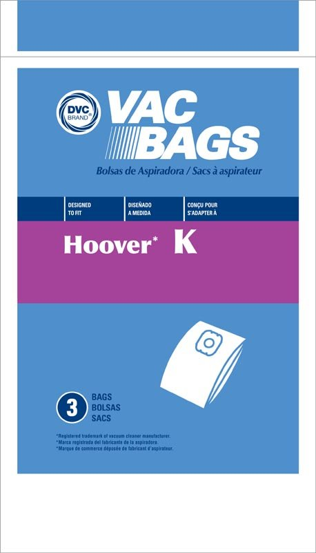 Hoover Type K Canister Spirit Bag 3pk