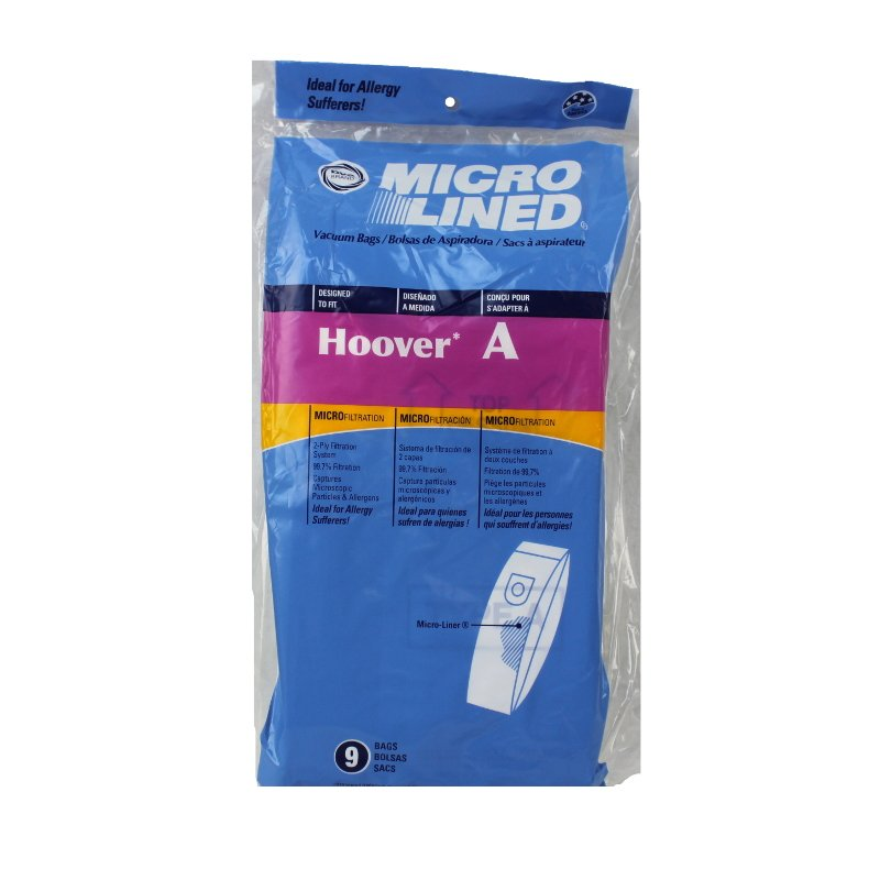 DVC Hoover A Microlined Bags 9pk