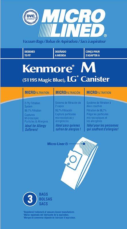 DVC Kenmore Magic Blue 51195 Microlined Bags 3pk